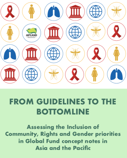 FROM GUIDELINES TO THE BOTTOMLINE : Assessing the Inclusion of Community, Rights and Gender priorities in Global Fund concept notes in Asia and the Pacific