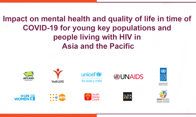 Impact on mental health and quality of life in time of covid-19 for young key populations and people living with HIV in asia and the pacific