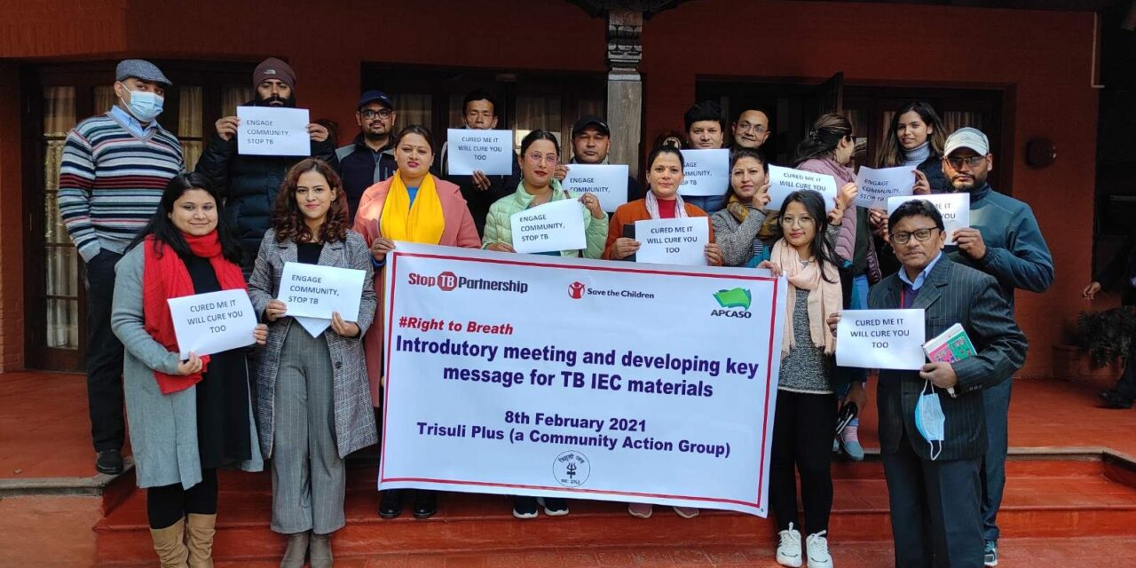 """TB survivors and TB-affected communities contributes to Nepal's TB response through the """"Right to BREATHE"""" Project"""
